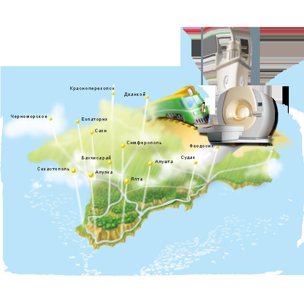 карта магнитно-резонансных центров мрт в крыму